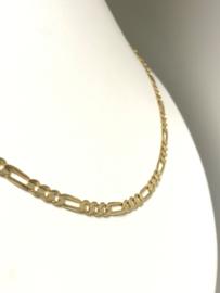 14 K Gouden Figaro Schakel Ketting - 61 cm / 13,1 g