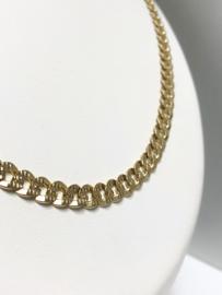 14 K Gouden Gourmet Schakel Ketting (Briljant Geslepen) - 54,5 cm / 27,35 g
