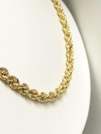 14 K Gouden Rope Koord Kabel Ketting - 65 cm / 18,2 g / 5,5 mm