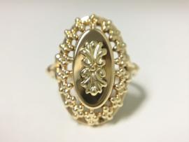 Handvervaardigd Antiek 14 K Gouden Entourage Ring