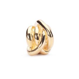 18 K Gouden Trollbeads TAUBE-00064 Geluks Knoop (Retired)