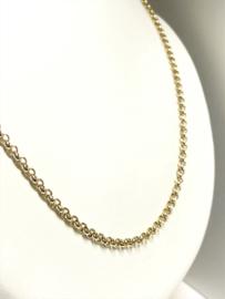 8 Karaat Gouden Jasseron Collier - 60 cm / 13,4 g / 3,3 mm