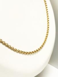 14 K Gouden Jasseron Collier Ketting - 64 cm / 11,3 g