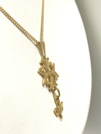 14 K Gouden Gourmet Ketting Hanger Hugenoten Kruis - 47,5 cm