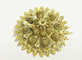 Antiek Handvervaardigd 14 K Gouden Broche - Zeeuwse Knopen ca 1900