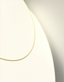 14 K Gouden Anker Collier Rond - 0,8 mm  / 45 cm