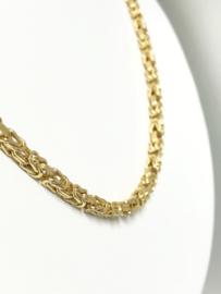 14 K Gouden Koningsketting Byzantijns - 70 cm / 44,9 g / 3,5 mm
