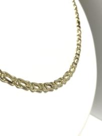 14 K Gouden Valkoog Schakel Ketting - 53,5 cm / 16,45 g