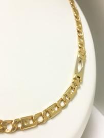 14 K Bicolor Gouden Rolex Schakel Ketting - 65 cm / 44,76 g
