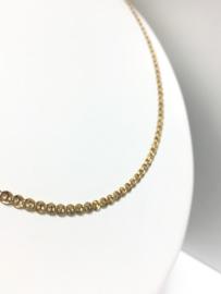 14 K Gouden Gucci Schakel Ketting - 56 cm