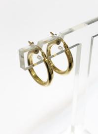 14 K Gouden Oorhangers Bol / Glad - 2,2 cm