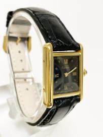 Must de Cartier Tank Black Roman Dial Quartz Dames Polshorloge - 366001