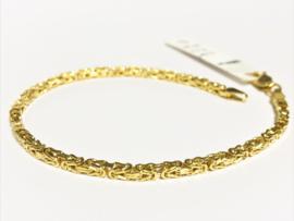 14 K Gouden Koningsarmband Byzantijns - 18 cm / 7,7 g