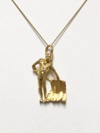 14 K Gouden Ketting Hanger Matador De Toros / Stierenvechter