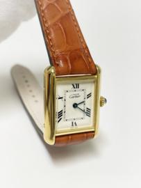 Must de Cartier Tank Large Ivory Roman Dial Quartz - Model 2415