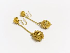 14 K Antiek Gouden Oorhangers - 4,5 cm