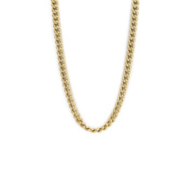 14 K Gouden Gourmet Schakel Collier  - 43 cm / 5,2 mm