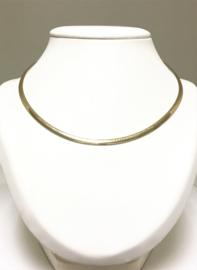 14 K Bicolor Gouden Omega Collier ( tweezijdig) - 45 cm / 21,11 g