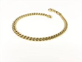14 K Massief Gouden Gourmet Schakel Armband - 14,6 g / 21 cm / 5 mm