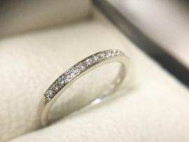 14 K Gouden Rijring 0.10 crt Briljantgeslepen Diamant G / VVS2
