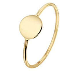 14 K Gouden Graveer Ring Rondje - 7 mm