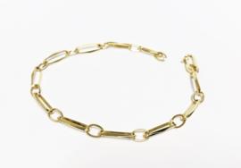 14 K Gouden Closed Forever Schakel Armband - 20 cm / 5 g