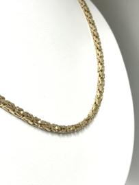 8 K Gouden Koningsketting Byzantijns - 80 cm / 37,4 g / 3 mm