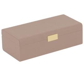 Luxe Sieraden Opberg Cassette Oud Roze / Beige - Goud