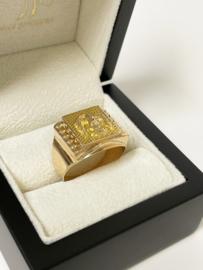 14 K Gouden Heren Ring Adelaar - 5,78 g / Mt 20,5