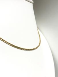 18 K Gouden Vossenstaart Collier - 40 cm / 9,2 g / 2 mm