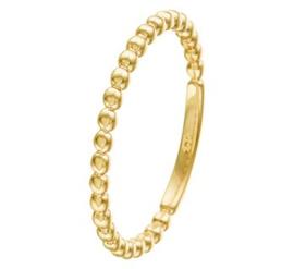 14 K Gouden Dames Ring / Aanschuifring Bolletjes