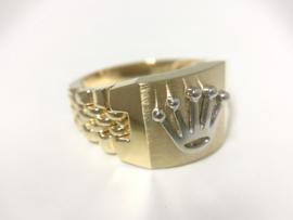 14 K Bicolor Gouden Rolex Ring - 9,7 g