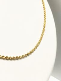 18 K Massief Gouden Koord Ketting - 53 cm / 11,4 g