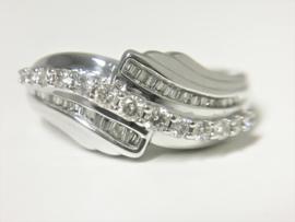 18 K Witgouden Fantasie Ring 0.50 crt Diamant H/VSi