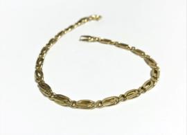 14 K Gouden Valkoog Schakel Armband - 19,5 cm / 6,55 g