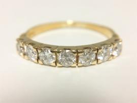 18 K Gouden Rijring 0.85 crt Briljantgeslepen Diamant H/VVS