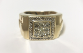 14 K Gouden Rolex Ring ca 0.40 crt Briljantgeslepen Diamant - 8,2 g