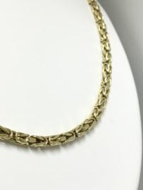 14 K Gouden Koningsketting Byzantijns (hol) - 72 cm / 23,5 g