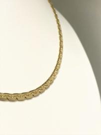 14 K Gouden S-Ketting (gewalst) - 45 cm / 15,7 g
