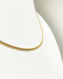 14 K Gouden Gourmet Collier - 43 cm / 6 g