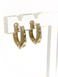 14 K Gouden Design Oorhangers Briljant Geslepen Heldere Cubic Zirkonia