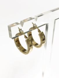14 K Gouden Creolen (bewerkt) - 2 cm
