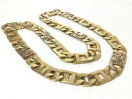 Custom Made Zware Bicolor Gouden Rolex Ketting - 75 cm / 376,7 gram
