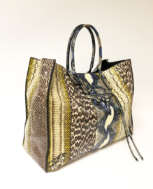 Balenciaga Multi- Colour Elaphe A4 Papier Tote Bag - Dames Handtas