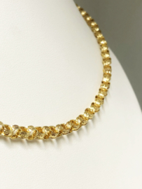 Antiek 14 K Gouden Jasseron Collier Jaren '20 - 48 cm