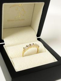 14 K Gouden Rijring Prinses Geslepen Cubic Zirkonia