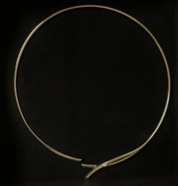 Zilveren Collier Spang Briljantgeslepen Zirkonia - 42 cm