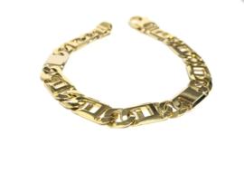 18 K Massief Gouden Rolex Schakel Armband - 20 cm / 25,25 g / 9 mm