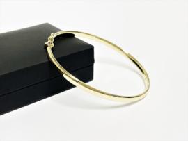 14 K Gouden Slaven Armband Bangle 4 mm / 7,15 g / 18 cm