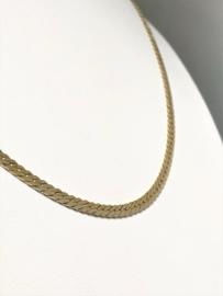 14 K Gouden Gourmet Collier (gewalst) - 49 cm / 8,95 g